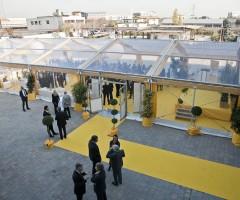 Tendostruttura trasparente e allestimento per convention aziendale - Verona