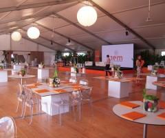 Tendostruttura e allestimento convention per inaugurazione impianto fotovoltaico - Virgilio - Mantova