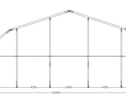 Tenda arco poligonale 18,7/23,7 mt